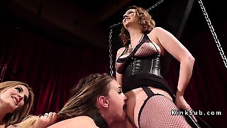 Whipped Ass Lesbian Spanked And Fucked