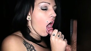 Gloryhole Secrets Kitty Gives Blowjobs At A Gloryhole And