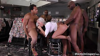 Hardcore Interracial Gangbang With Alluring Blonde Alena Croft