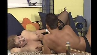 Latina Grannie In Black Stockings Gets Drilled Hard