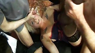 British Amateur Blondes Gangbanged
