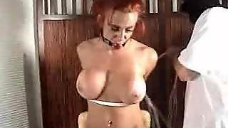 Red Head Bound And Gagged