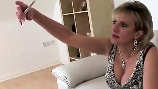 Busty Mature Woman With A Dildo