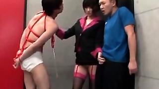 Nasty Jap Teacher Using Her Students As Sex Slaves In 3Some