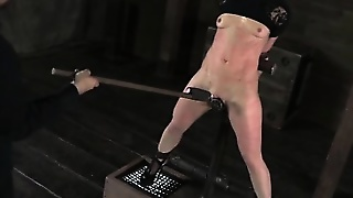 Female Slave Gets Tortured With Whips Clams And Toys