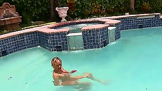Naughty And Voluptuous Jodi West Is Giving Stud A Wild Cock Sucking By The Pool