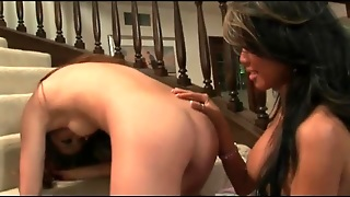 Erotic Tit Sucking Lesbians On The Stairs