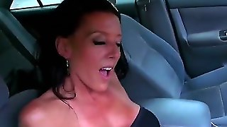 Seductive Whorish Long Haired Mature Milf With Hot Sexy Body In Arousing Black Dress Enjoys Playing With Young Horny Dude In Arousing Outdoor Fantasy Filmed In Close Up.