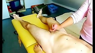 White Hubby Gets Handjob By His Black Wife
