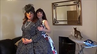 Madame C Fits Angelica's Pink Chastity Device