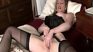 Mature Blonde With Sexy Lingerie