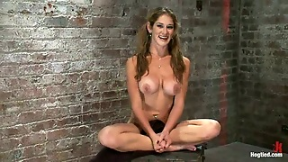 Felony The Busty Babe Get Hog Tied, Toyed And Fucked