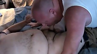Heavy Hairy Bear Jerks During Anal With Fatty