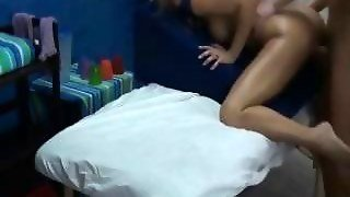 Foreign Teen Caught On Massage Room Spy Cam Seduced And Fucked!