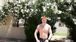 Red Head Jerks Hot Cock!