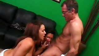 Mommy And Daughter Share Phallus
