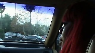 Bootylitious Caramel Bitch Lethal Lipps Gives Head In The Car