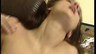 Brunette Works A Big Cock