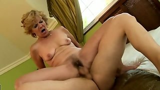 Hairy Granny Gets Her Pussy Plowed By Dick