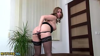 Hot Milf With Mouth Watering Curves Masturbates Solo