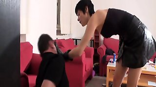 Slapping, European, Brunette Threesome, Threesome Femdom, Brunette German, Threesome Brunette, German Brunette Threesome, Germa N, Femdomgerman, Germanfemdom