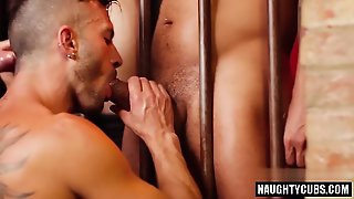 Latin Gay Threesome And Facial