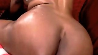 Oiled Tittied Black Nympho With Hairy Armpits