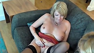 Mature Mother Fucks Her Mature Lesbian Friend
