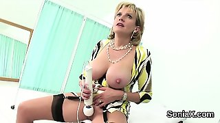 Unfaithful British Mature Lady Sonia Pops Out Her Heavy Ball