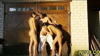 Nude Threesome Outdoors