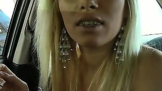 Blonde, Blowjob, Outdoor