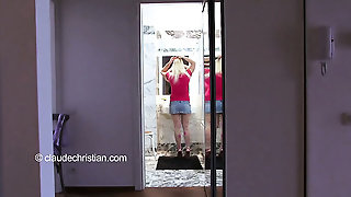 Blonde 19Yo With Big Breast In Pantyhose Gets Wet.