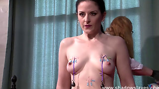 Suffering Lesbian Slave Carolines Needle Torture And Extreme Femdom Bdsm
