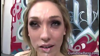 Group Blowing Facial Slut