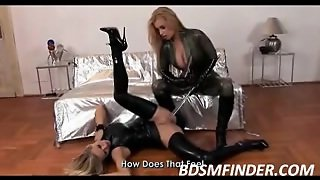 Lesbian Babes Latex And Toys