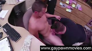 Gay Blowjob For Straight Amateur For Pawn Cash In Spycam