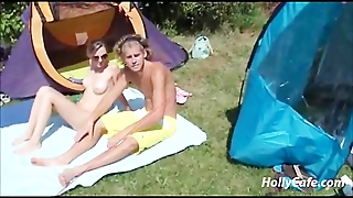 German Camping Party Big Tits German