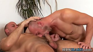 Bald Gay Hunks Bareback