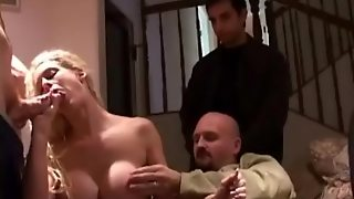 Gangbang Of A Fit Milf With Big Fake Tits