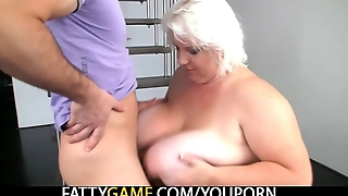 He Shoots Some Nasty Photos With Huge Titted Plumper