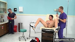 Big Cock Doctor Threesome With Cumshot
