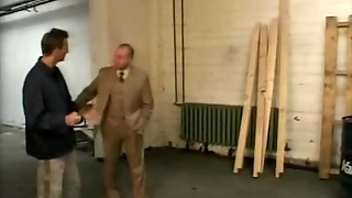 Old Man Fuck In Garage