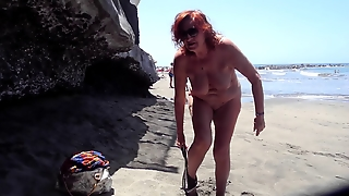 Beach, Grannies, Public Nudity