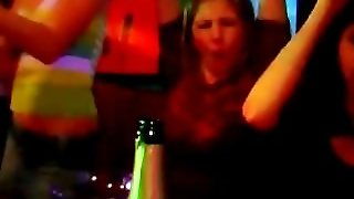 Brunette Hoe Swallows Dick At Orgy
