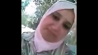 Arab Hijab Woman Outdoor