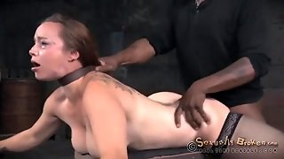 Spit Roasted Bondage Slave Used By Two Guys