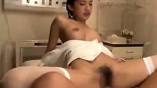 Asian Nurse Threesome
