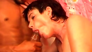 Big Black Cock Has His Way With Mature Vagina