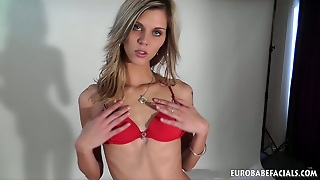 Anorexic Amateur Blonde Blows And Gets Fucked Hard