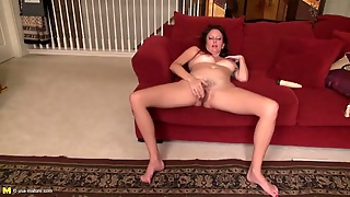 Naked Mom With Her Legs Spread To Finger Blast Her Hole